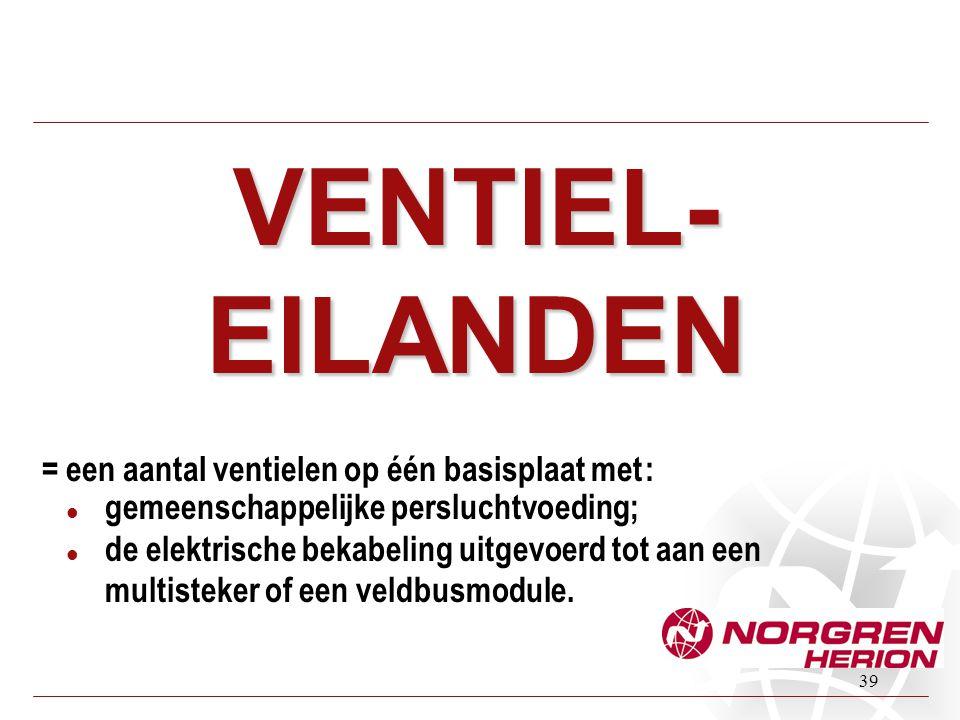 VENTIEL-EILANDEN = een aantal ventielen op één basisplaat met :