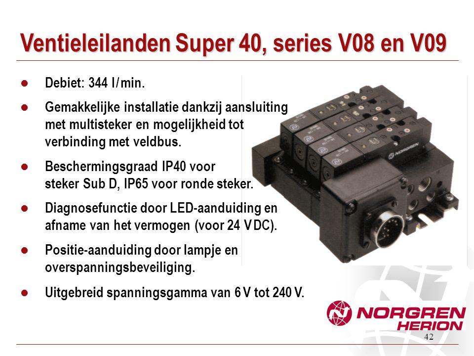 Ventieleilanden Super 40, series V08 en V09