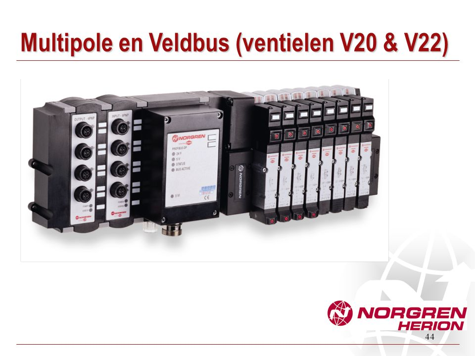 Multipole en Veldbus (ventielen V20 & V22)
