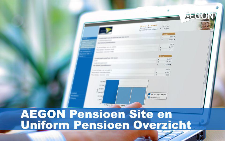 AEGON Pensioen Site en Uniform Pensioen Overzicht