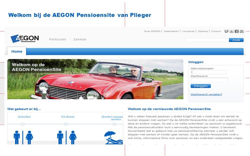 Welkom bij de AEGON Pensioensite van Plieger