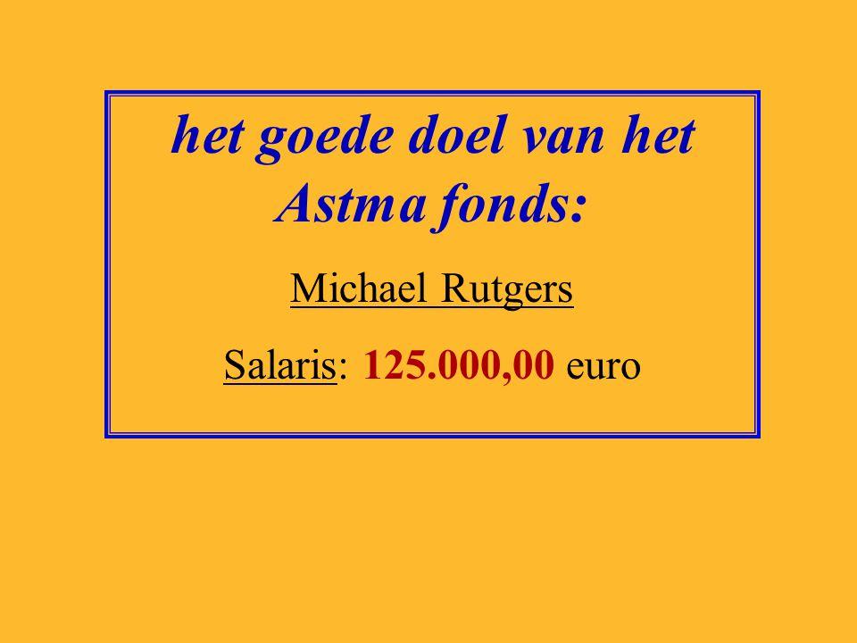 het goede doel van het Astma fonds: