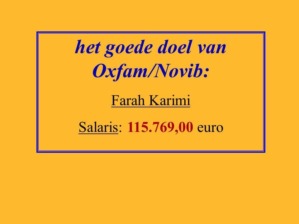 het goede doel van Oxfam/Novib: