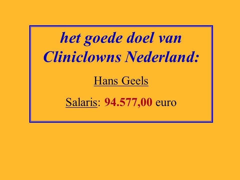 het goede doel van Cliniclowns Nederland: