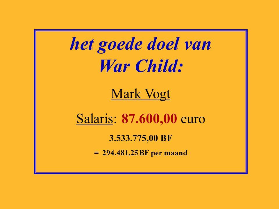 het goede doel van War Child: