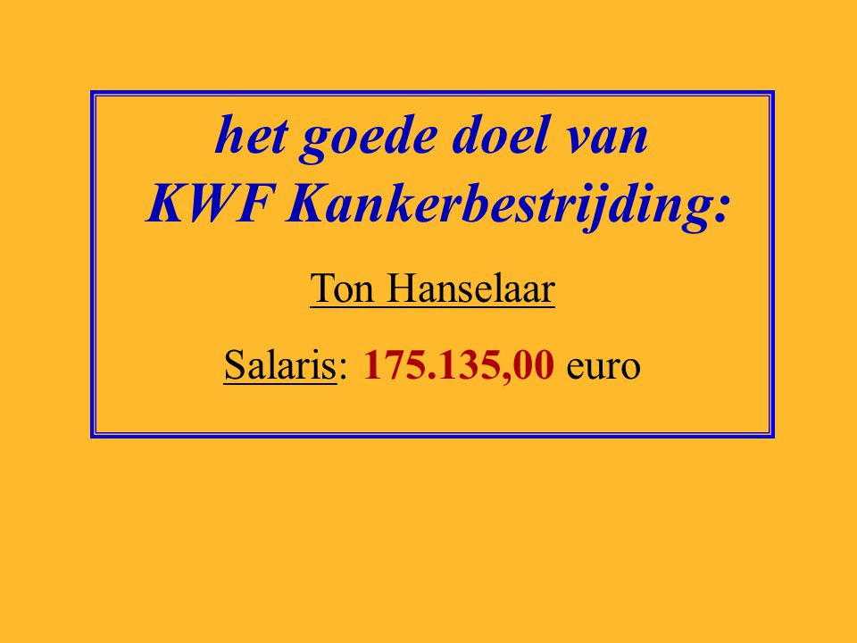 het goede doel van KWF Kankerbestrijding: