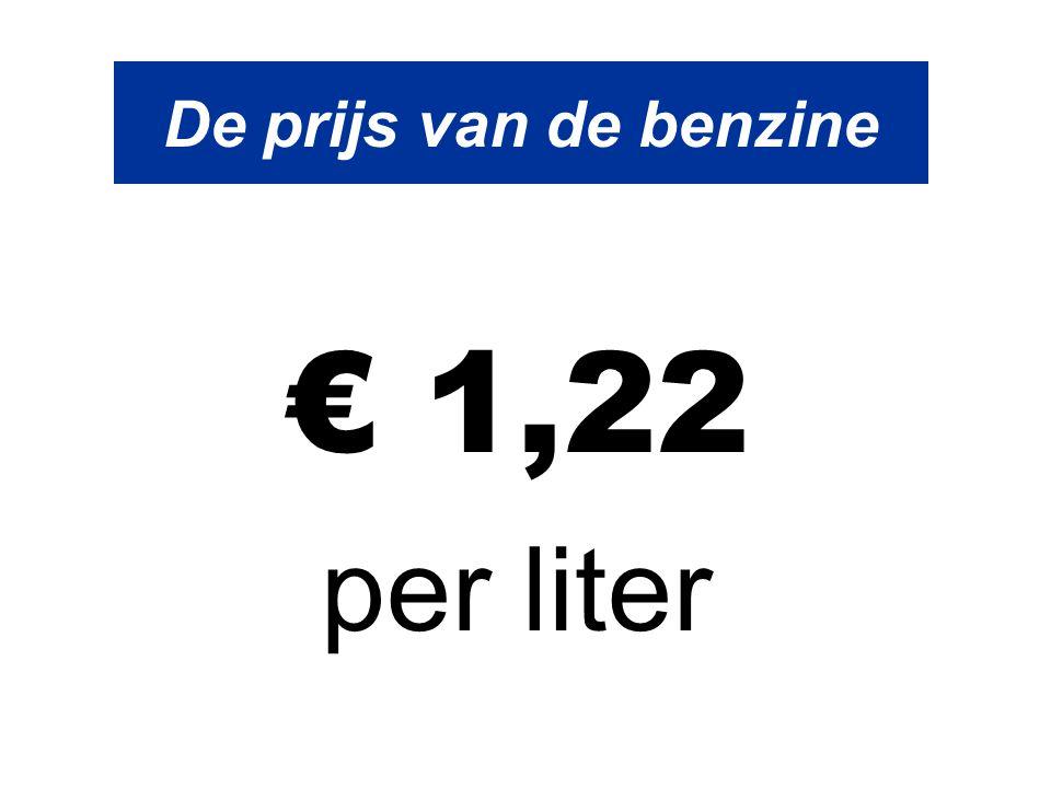 De prijs van de benzine € 1,22 per liter