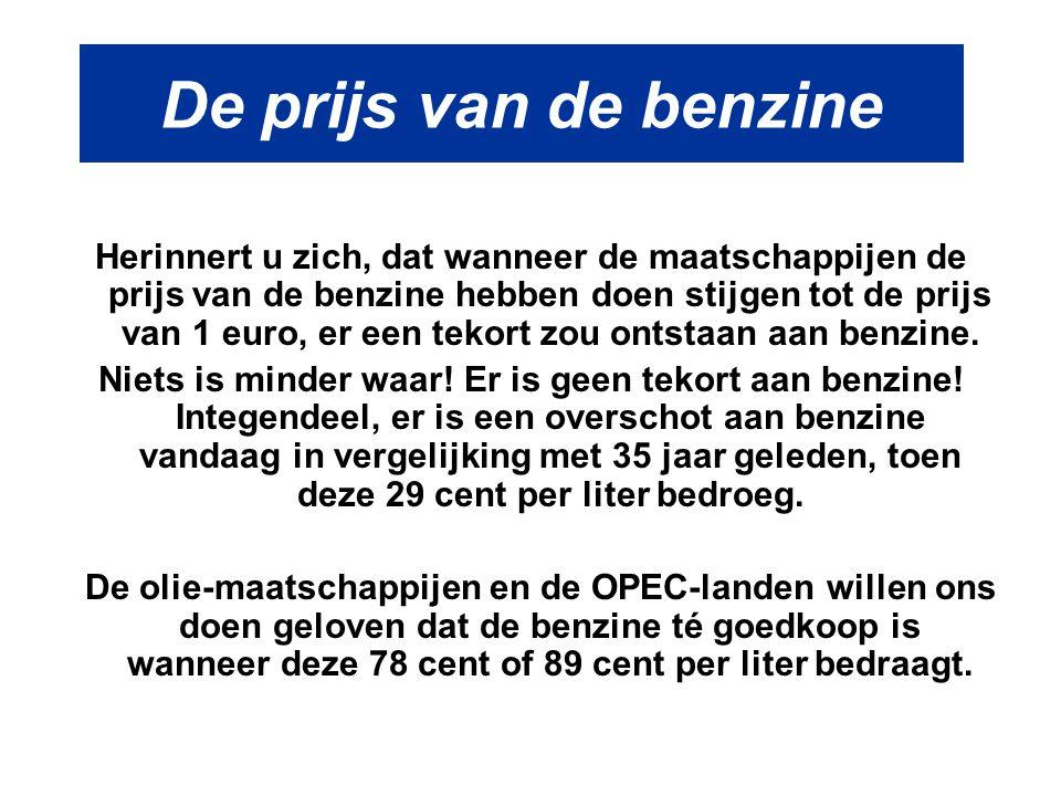 De prijs van de benzine