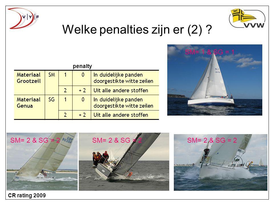 Welke penalties zijn er (2)