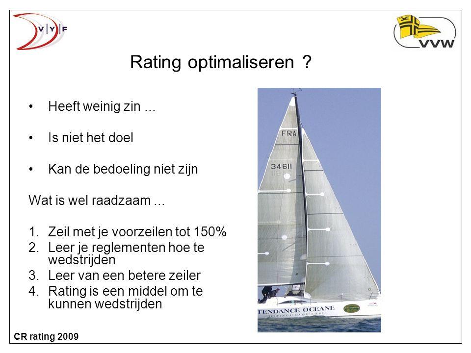 Rating optimaliseren Heeft weinig zin ... Is niet het doel