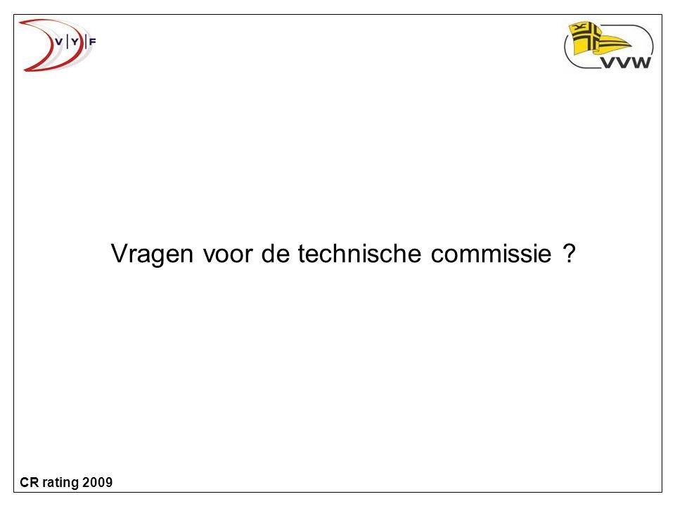 Vragen voor de technische commissie