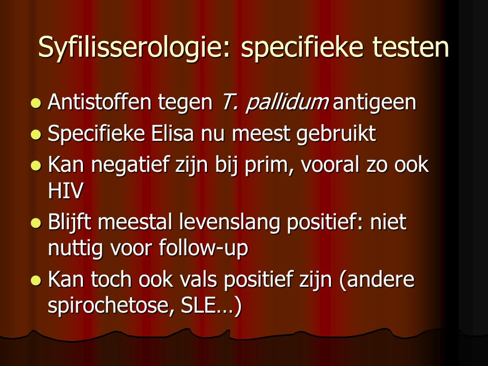 Syfilisserologie: specifieke testen