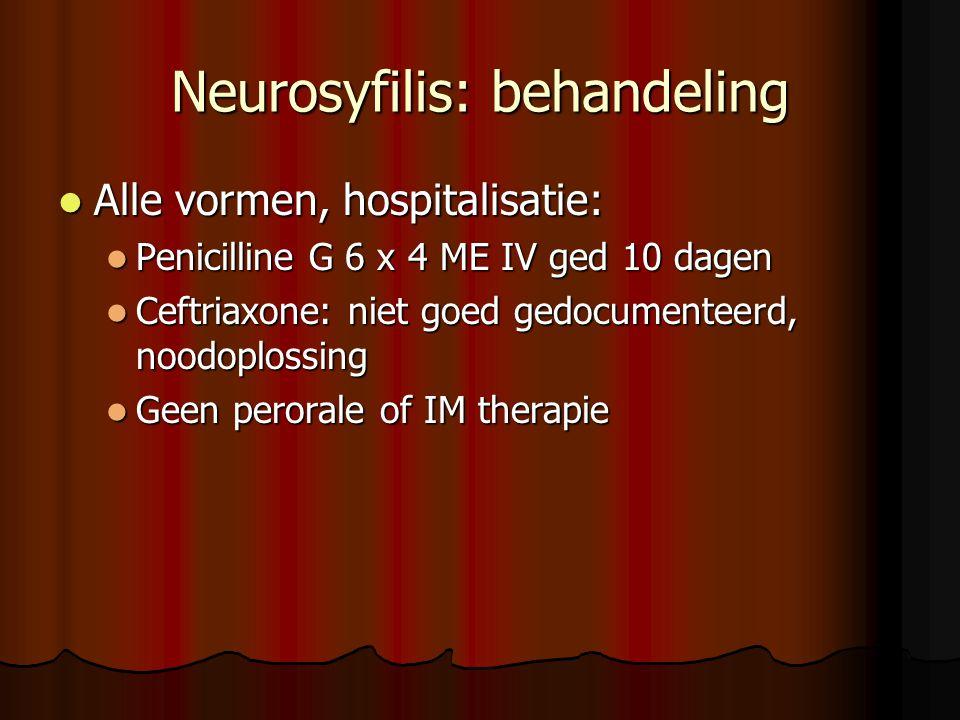 Neurosyfilis: behandeling