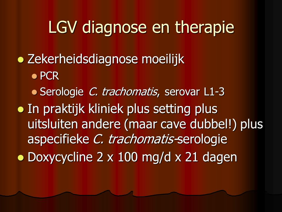 LGV diagnose en therapie