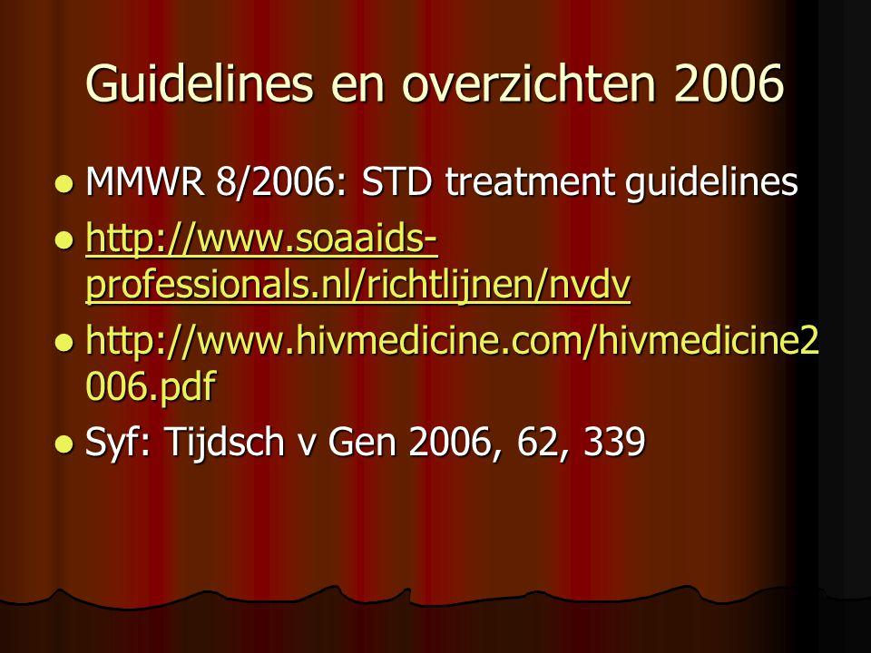 Guidelines en overzichten 2006