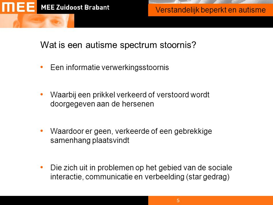 Wat is een autisme spectrum stoornis
