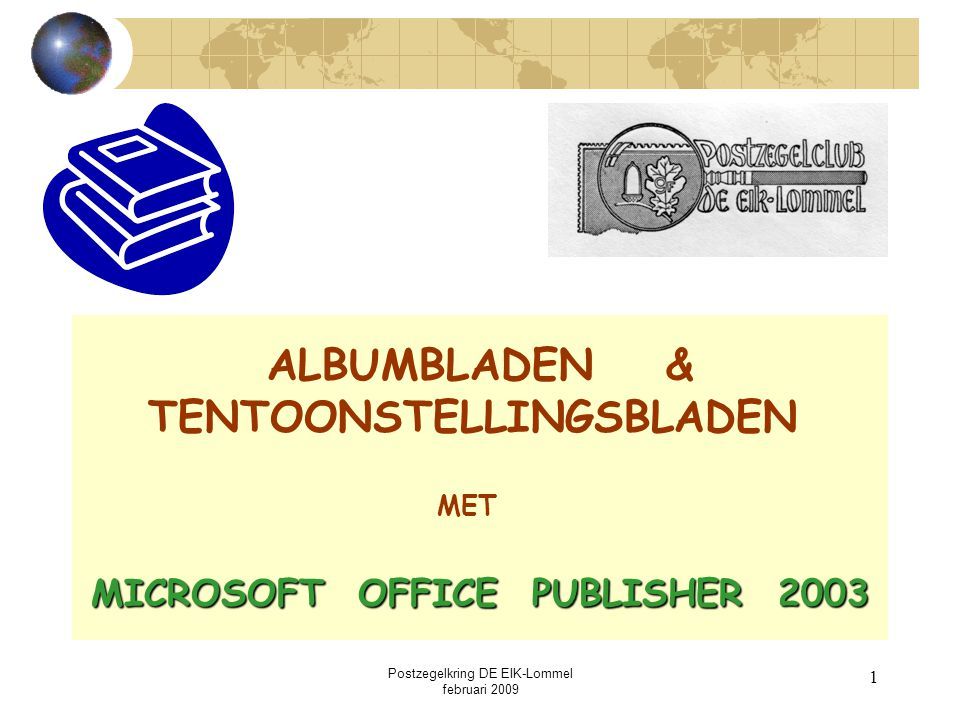 ALBUMBLADEN & TENTOONSTELLINGSBLADEN MICROSOFT OFFICE PUBLISHER 2003