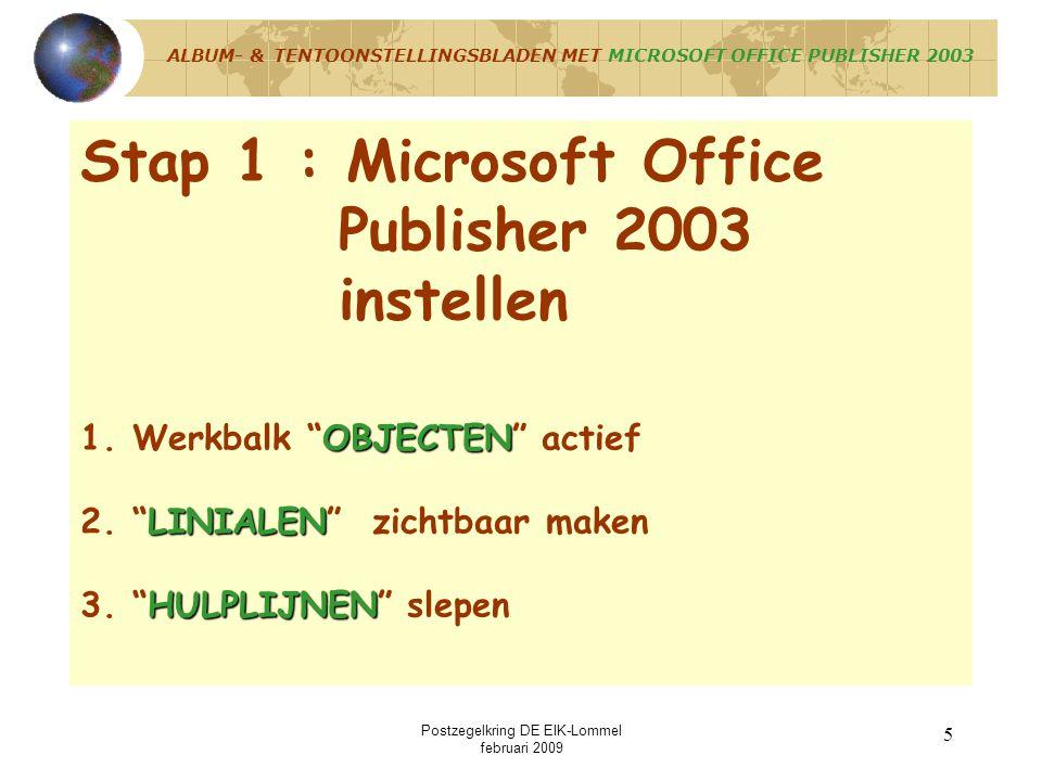 ALBUM- & TENTOONSTELLINGSBLADEN MET MICROSOFT OFFICE PUBLISHER 2003