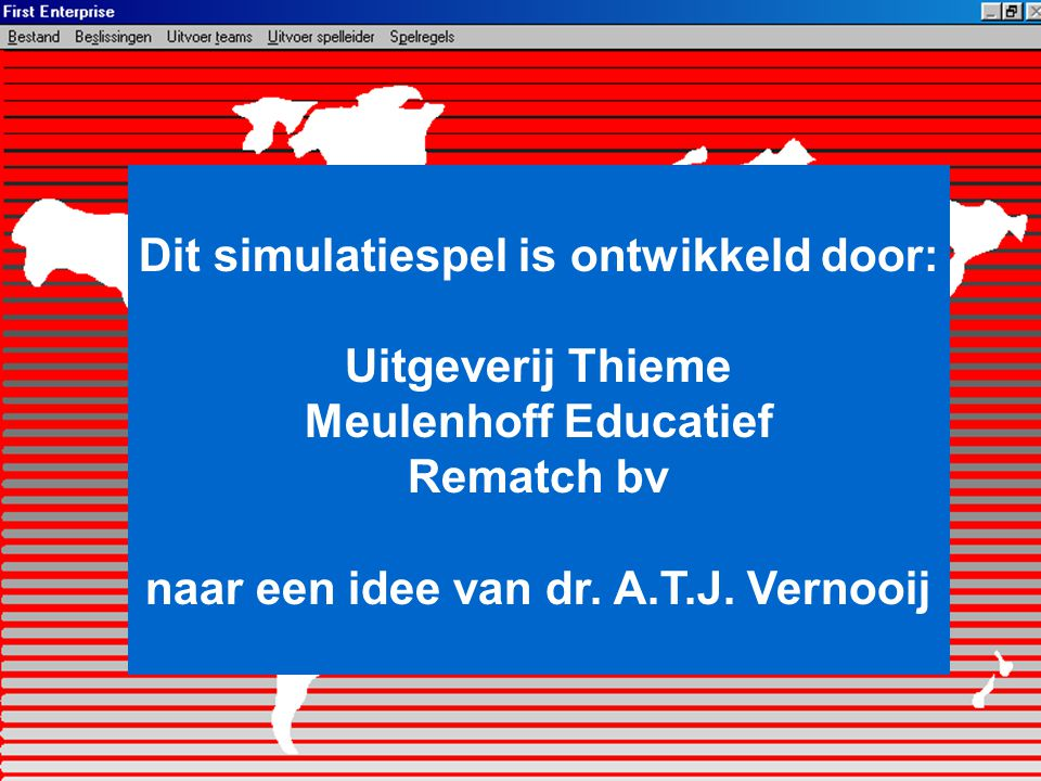 Dit simulatiespel is ontwikkeld door: Uitgeverij Thieme