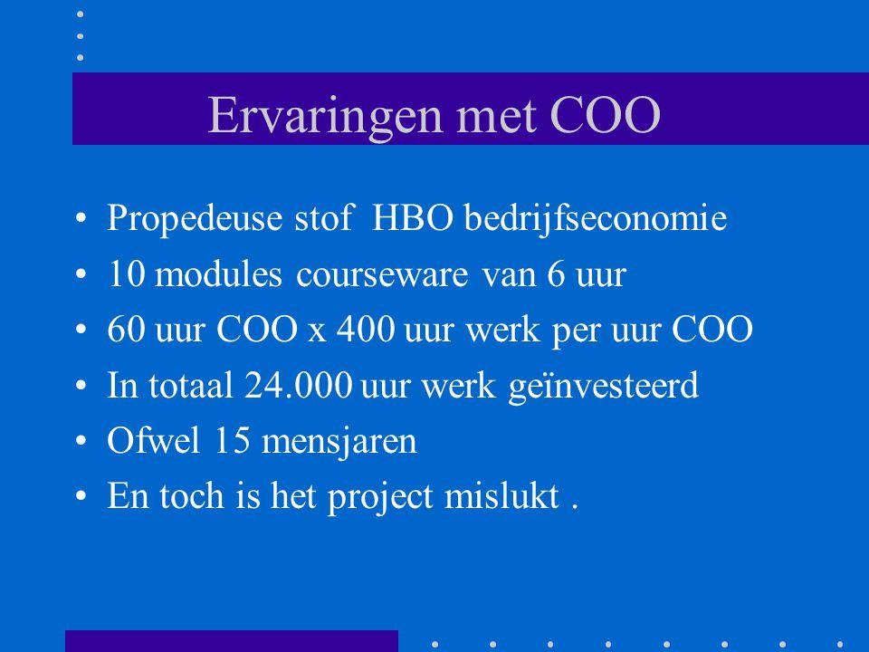 Ervaringen met COO Propedeuse stof HBO bedrijfseconomie