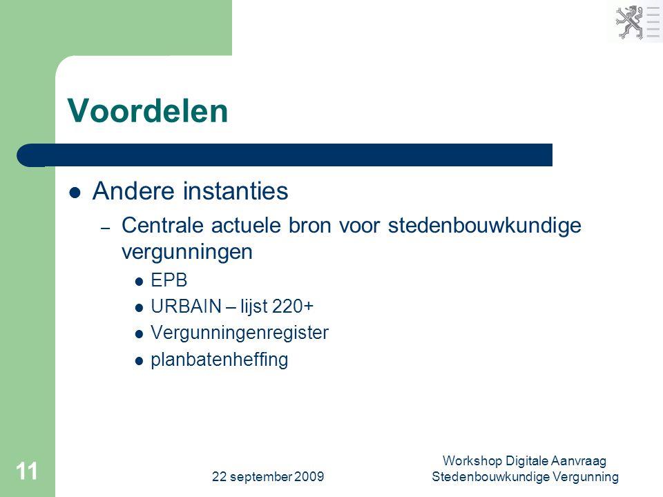 Workshop Digitale Aanvraag Stedenbouwkundige Vergunning