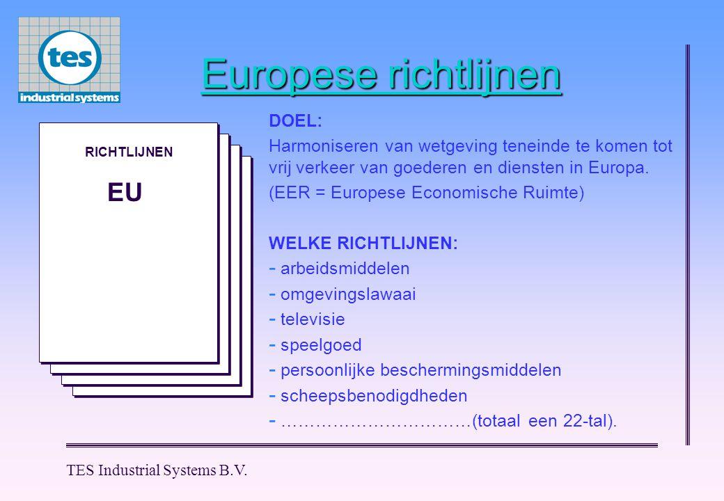 Europese richtlijnen EU DOEL:
