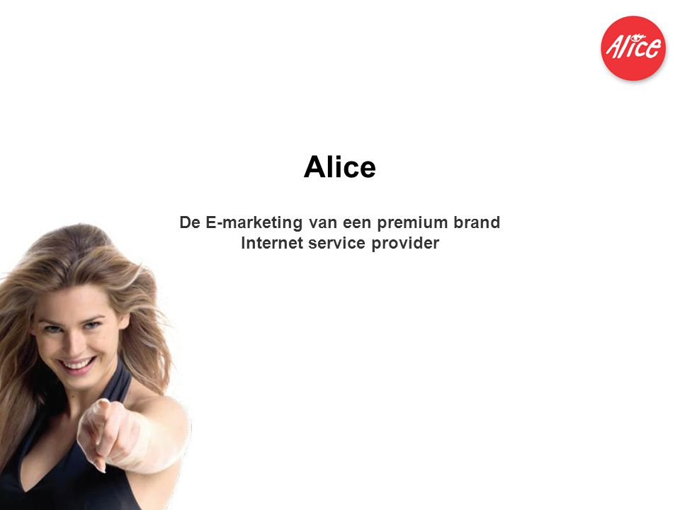 De E-marketing van een premium brand Internet service provider