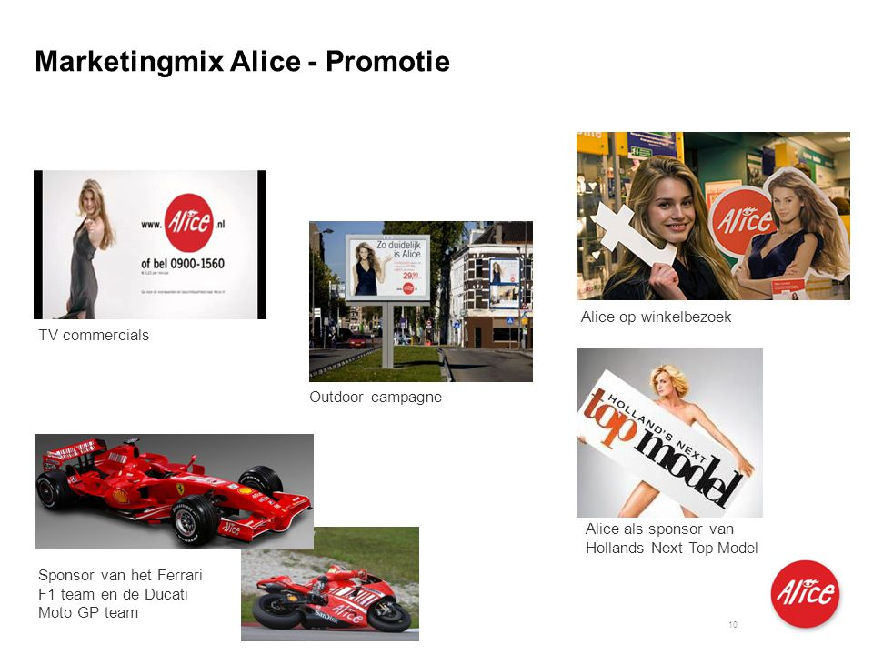 Marketingmix Alice - Promotie