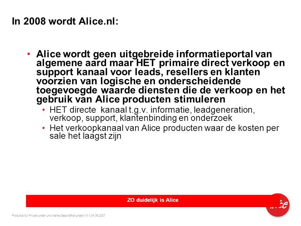 In 2008 wordt Alice.nl: