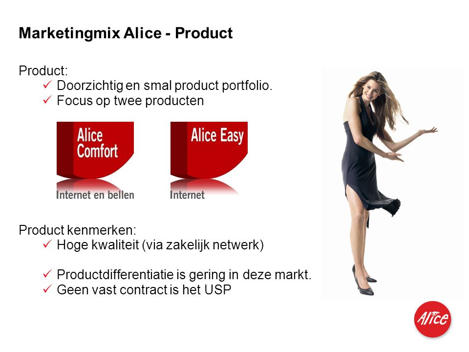 Marketingmix Alice - Product