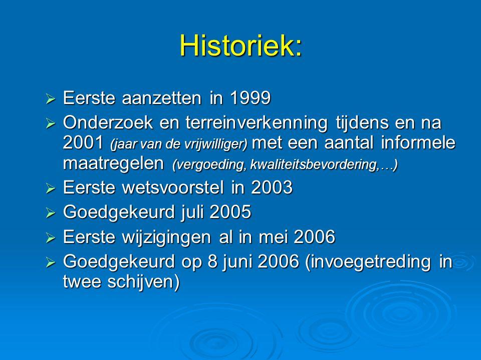 Historiek: Eerste aanzetten in 1999