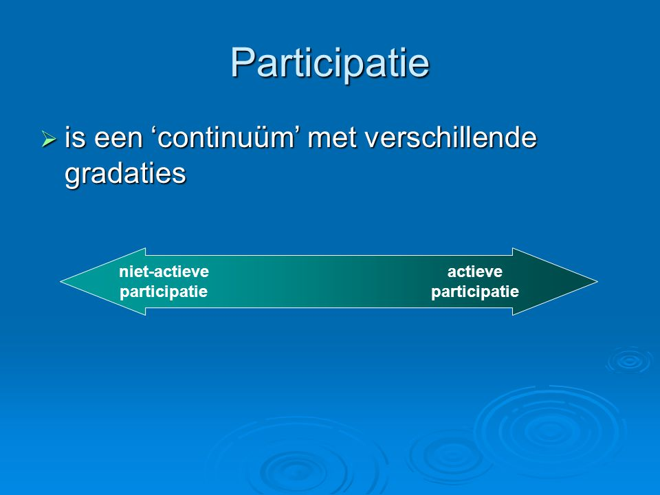 niet-actieve participatie