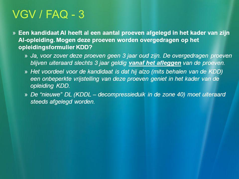 VGV / FAQ - 3