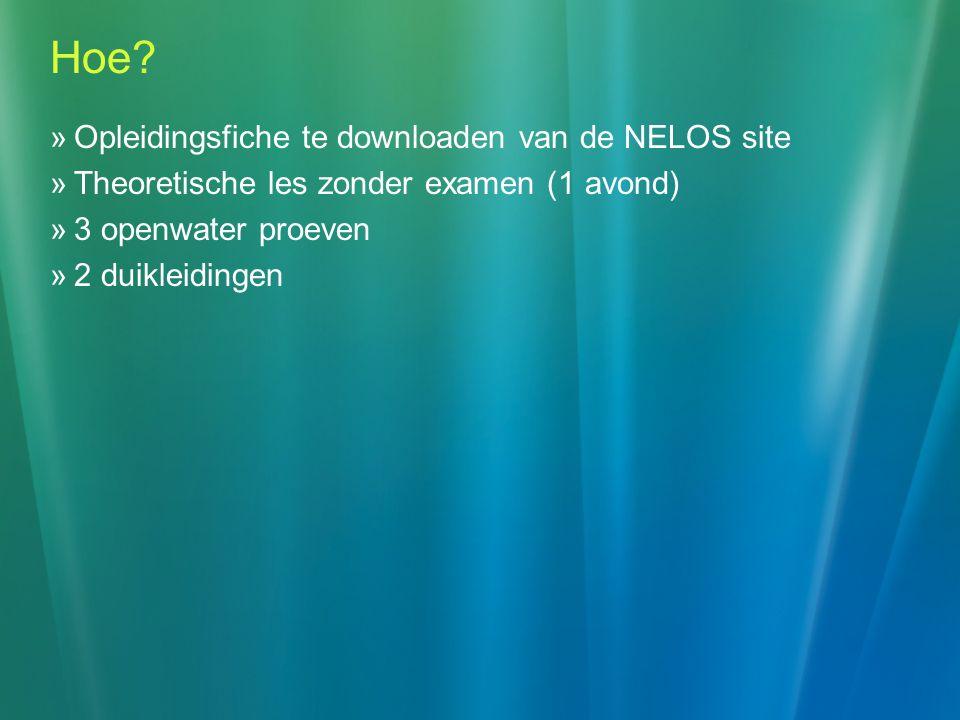 Hoe Opleidingsfiche te downloaden van de NELOS site