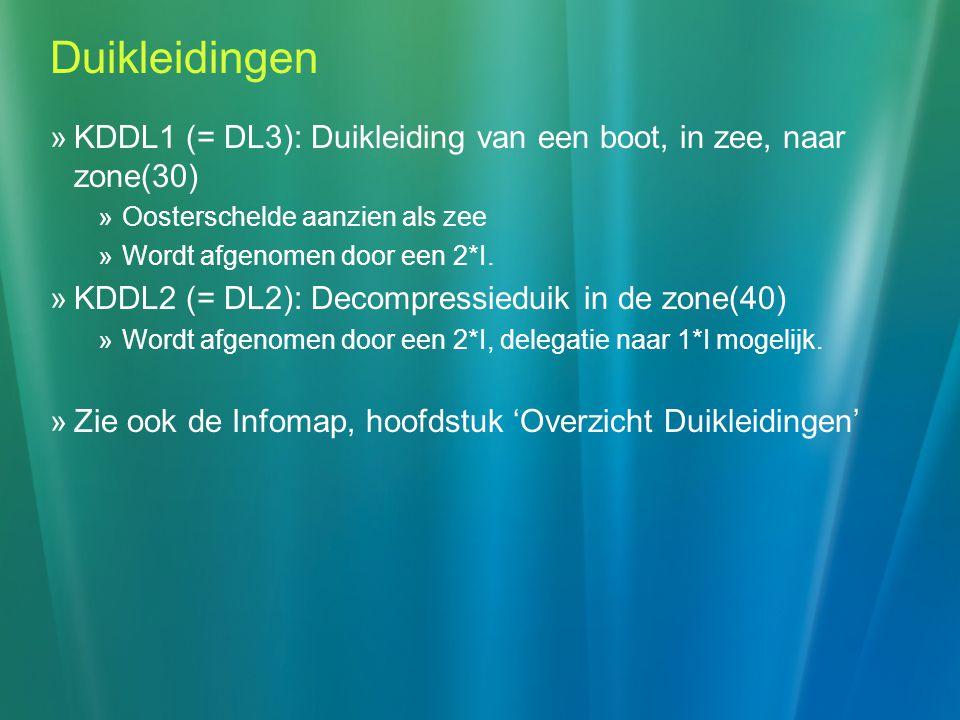 Duikleidingen KDDL1 (= DL3): Duikleiding van een boot, in zee, naar zone(30) Oosterschelde aanzien als zee.