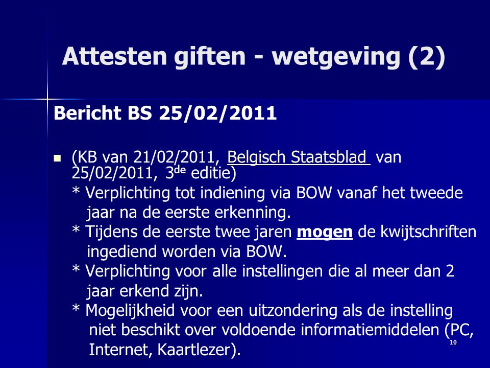 Attesten giften - wetgeving (2)