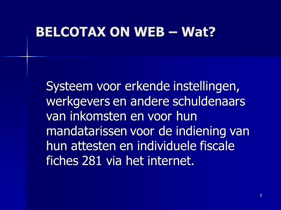 BELCOTAX ON WEB – Wat
