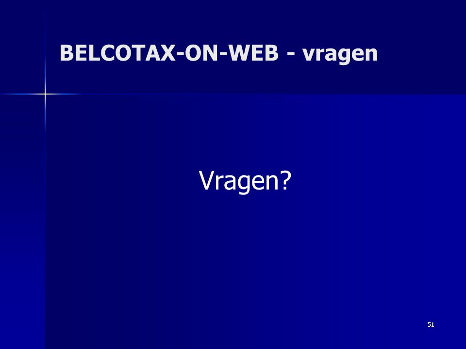 BELCOTAX-ON-WEB - vragen