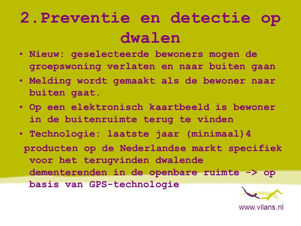2.Preventie en detectie op dwalen
