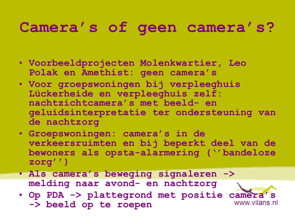 Camera's of geen camera's