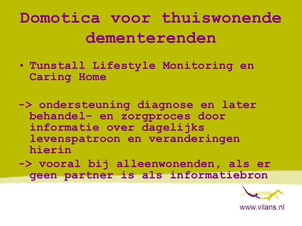 Domotica voor thuiswonende dementerenden