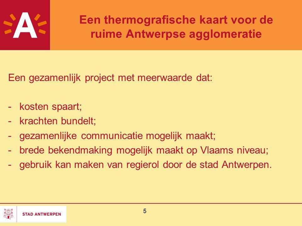 Een thermografische kaart voor de ruime Antwerpse agglomeratie