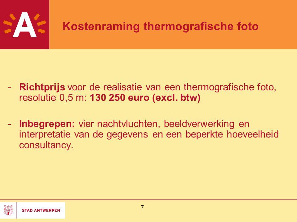Kostenraming thermografische foto