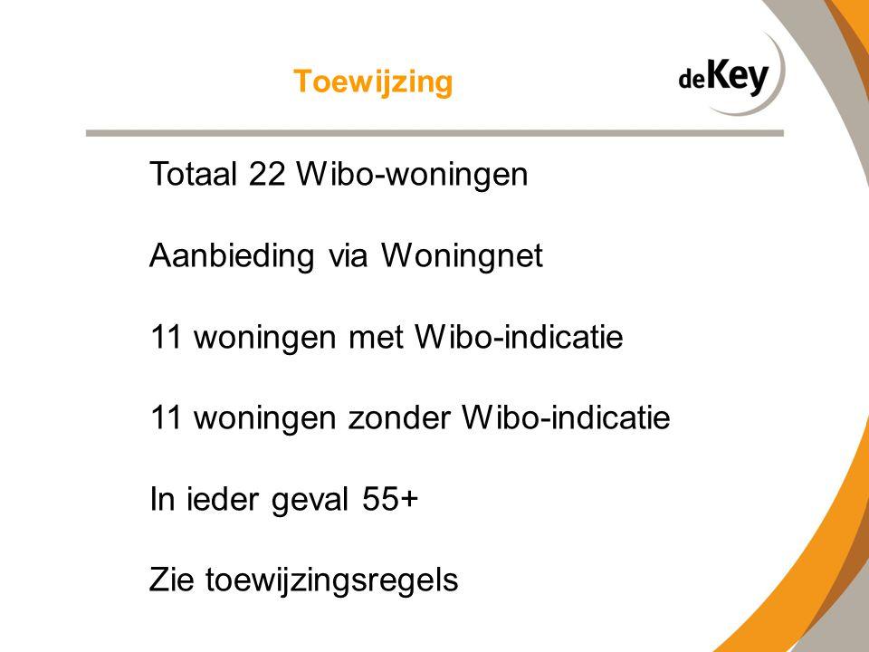 Aanbieding via Woningnet 11 woningen met Wibo-indicatie