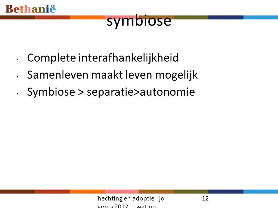 symbiose Complete interafhankelijkheid Samenleven maakt leven mogelijk