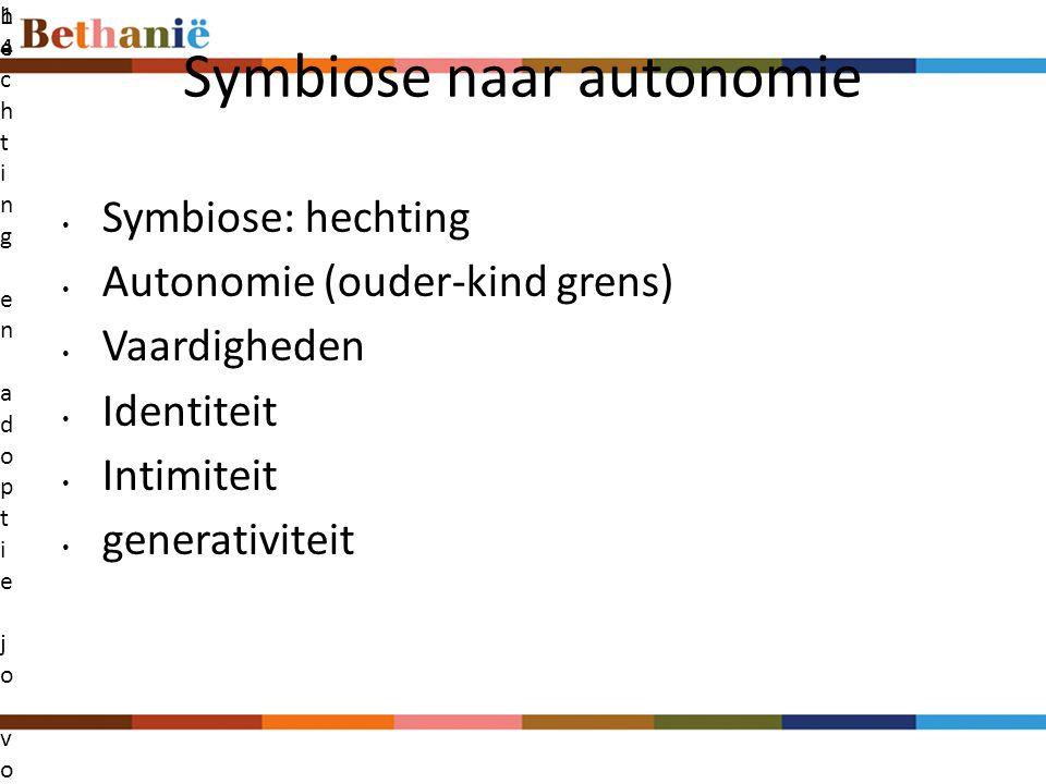 Symbiose naar autonomie
