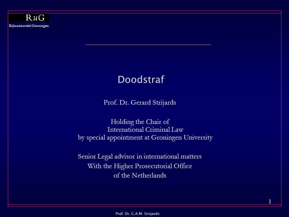Doodstraf Prof. Dr. Gerard Strijards