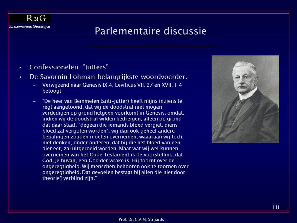 Parlementaire discussie