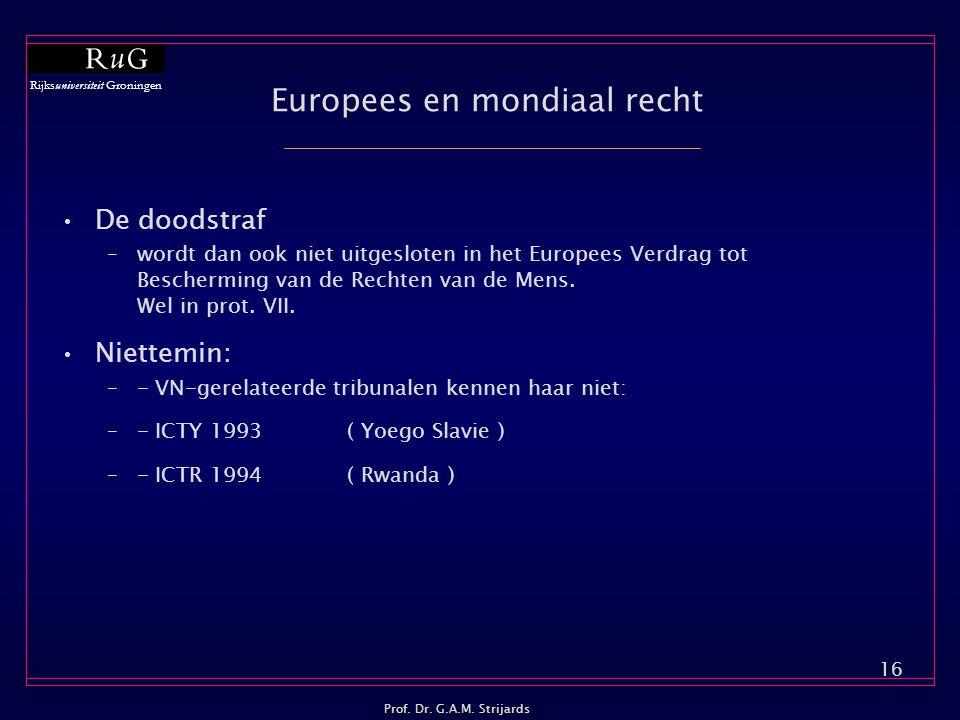 Europees en mondiaal recht