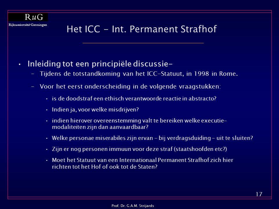 Het ICC - Int. Permanent Strafhof